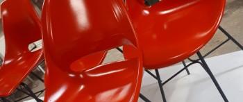Retro Skořepinová židle Vertex