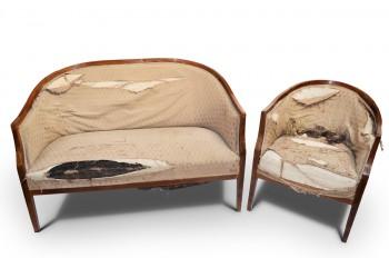 Retro Sofa, křeslo Biedermeier